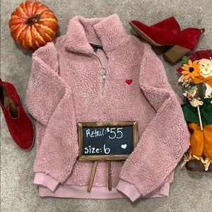 Brand New Top Shop Heart Zip Up Sweater Size 6